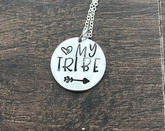 Love my tribe. Tribal Necklace. Bride Tribe. Best Friend Gift. Love my tribe. Gift for friend. My tribe necklace. sorority sister.