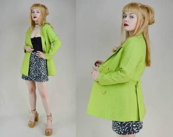 60s Clubkid Zoolander Zesty Lime Fitted Suit Jacket S