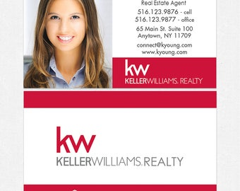 Keller Williams real estate business cards - thick, color both sides - FREE UPS ground shipping