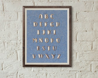 embroidery pattern alphabet, modern hand embroidery, contemporary embroidery, diy