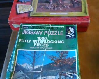 2 vintage jigsaw puzzels  1000 pcs.