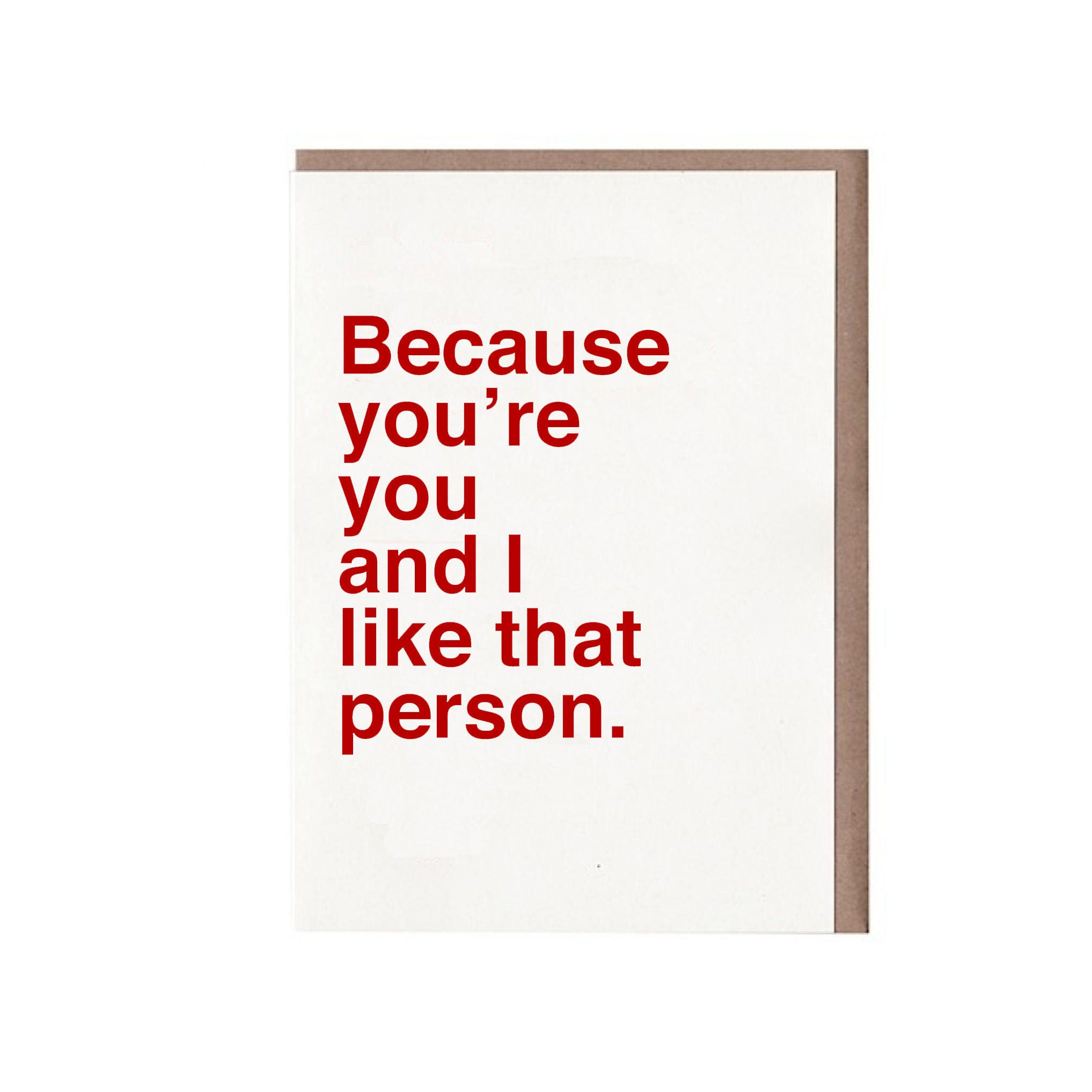 Funny Valentine Card   Valentines Card Funny   Friend Valentine Card    Because Youu0027re You And I Like That Person.