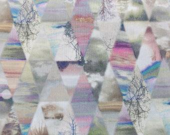 Liberty Of London Tana Lawn Cotton Fabric  'Matt Madison' Pink Geometric