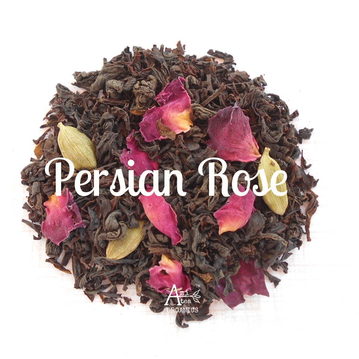 Tea rose cardamom organic persian rose blend whole leaf for A treasury of persian cuisine