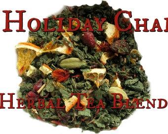 Holiday Chai Blend - loose leaf herbal tea, nettle tea, herbal chai, fruit tea, winter chai tea, Christmas gift, Yule gift, Winter Solstice