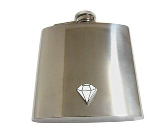 Diamond Outline  6 oz. Stainless Steel Flask