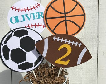 Sports Centerpiece or Cake Topper