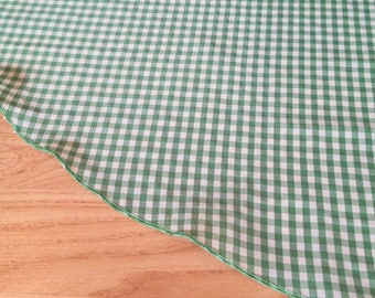 "Emerald 44"" Gingham Tree Skirt - Country Chic Plaid, Man Approved Simple Tree Skirt, FreeShipping, Made in USA"