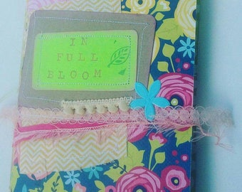 In Full Bloom junk journal. Nature journal. Mixed paper journal. Price includes US shipping!