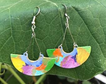 Statement Watercolored earrings