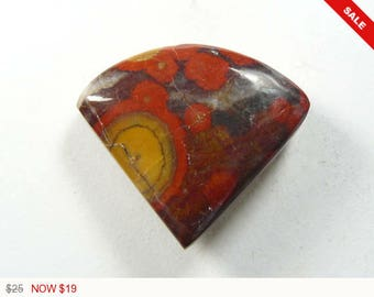 Morgan Hill Poppy Cabochon, 30x26x6 mm, designer cabochon, gemstone cabochons, flat back cabochons, natural stone cabochons (mh51971)