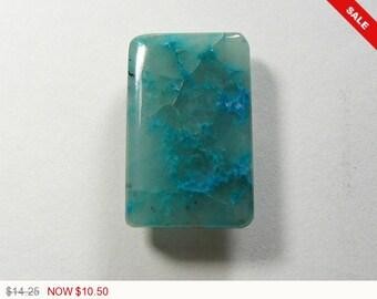 Blue Chrysocolla in quartz Cabochon, designer cabochon, gemstone cabochons, flat back cabochons, natural stone cabochons(c102061)