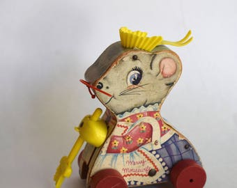 Vintage Merry Mousekeeper Fisher Price Toy