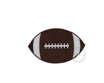 ON SALE NOW Football iron on applique, Fall sports no sew patch , Machine embroidered football fabric applique