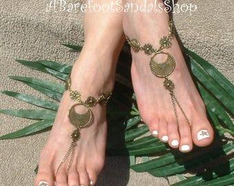 FREE SPIRIT, Women's Foot Jewelry, Barefoot Sandals, Toe Ring, Ankle Jewelry,  Flat, Boho Shoes, Bohemian, Hippie, Gypsy, SOUL, Style