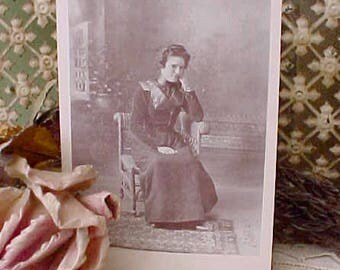 Victorian Sepia Photograph of Charming and Spirited Young Lady