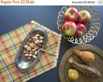 ON SALE Antique Silver Plated Platter // Vintage Rustic Style Tarnished Silverplate Oval Serving Tray Fruit Bowl Holiday Centerpiece Beaded