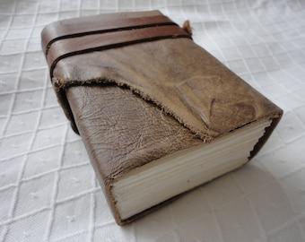 Wonderful A7 caramel brown leather journal