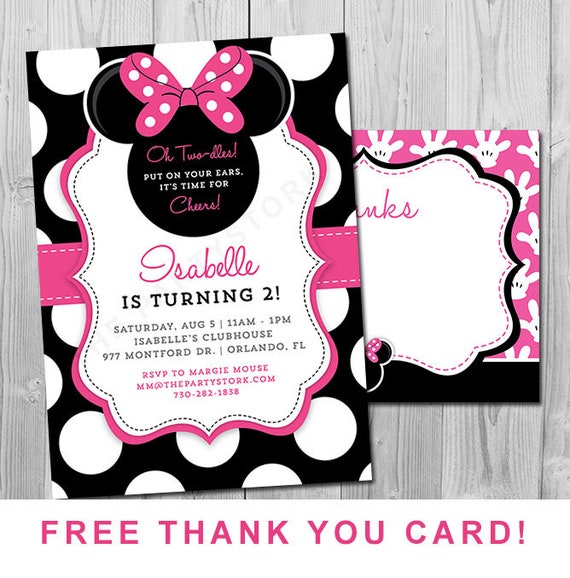 Minnie mouse 2nd birthday invitations printable girls party il570xn filmwisefo