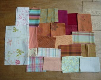 set of fabrics for patchwork 157 coupons