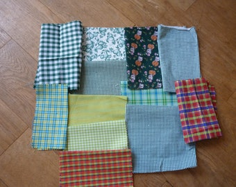 set of fabrics for patchwork 194 coupons