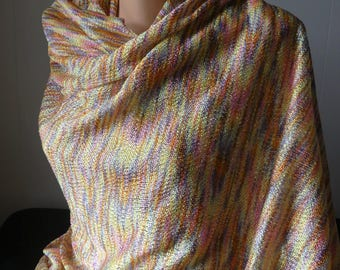 """Lustrous polyester knit - shades of sherbet - 58"""" wide x 2 1/2 yds.+"""