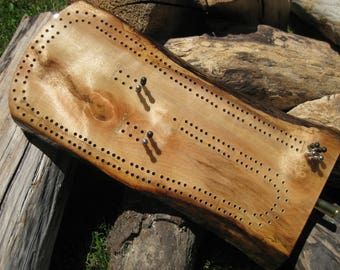 Myrtlewood Driftwood Cribbage Board
