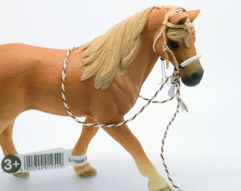 Western BRIDLE headstall with bosal for SCHLEICH HORSES