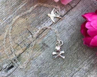 Memento Mori Skull Necklace