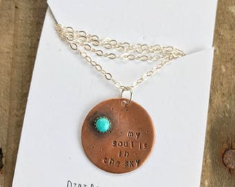my SOUL is in THE SKY necklace