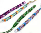 Arrow Friendship Bracelets / Handwoven Braided Bracelets Best Friend Gift / Native Aztec Geometric Jewelry / Stackable Bohemian Braclet