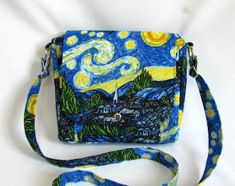 Small messenger- Van Gogh inspired cotton