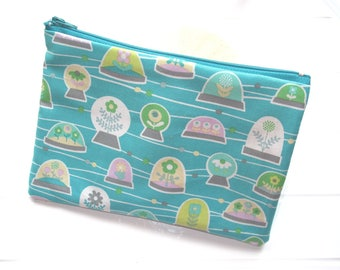 Pouch Makeup organizer Cosmetic case with small plants