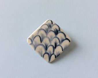 Hand made porcelain brooch