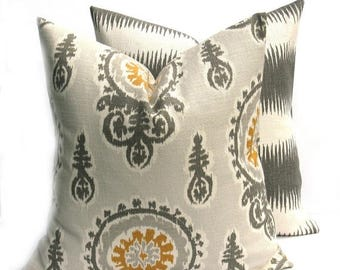 15% Off Sale Gray Pillows Decorative Pillow Cover, Gray Pillow Covers Mustard Yellow Pillows ,home decor - Gray Mustard yellow pillow covers