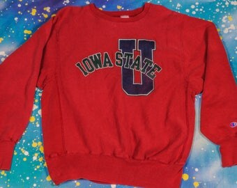 IOWA State University  Reverse Weave CHAMPION Sweatshirt Size L