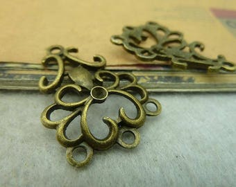 the antique bronze  plating  connector  pendant finding