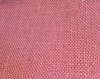 Loosely woven heavy cotton blend fabric, vintage.