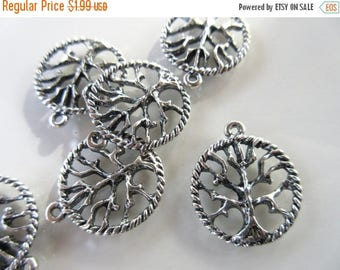 CLEARANCE SALE 6pc Tree of Life charms tibetan silver antique silver tone 20mm X 24mm necklace or bracelet charm pendant lead free