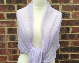 Wedding Shawl  Lavender Bridesmaids Wrap Mother of the Bride Gift  Outlander style shawl Romantic Wedding Cover up Anniversary Gift for wife