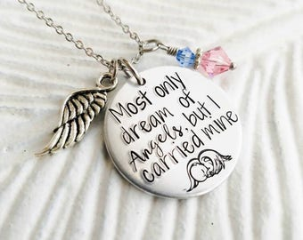 Miscarriage necklace,  memorial necklace, Child loss necklace, Baby loss necklace, Gift for child loss, Mommy of an Angel, Sympathy gift