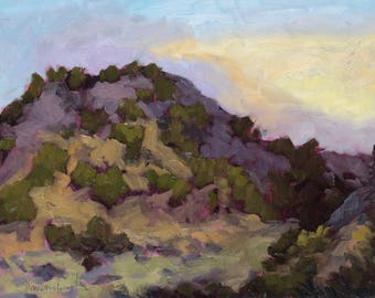 Galisteo Sunrise Shadows and Shapes - New Mexico - Original Oil Landscape Painting