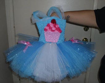 Cupcake Costume Flower Girl Tutu Dress