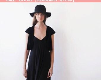 25% OFF Black velvet Bolero , Velvet short sleeves jacket, Black velvet shrug 2028