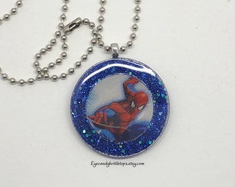 Spiderman Resin Necklace