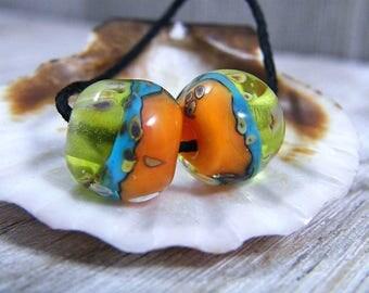 Handmade Lampwork Beads - Earring Pairs ~ Olena ~Southwest-Boho-Earring Pairs