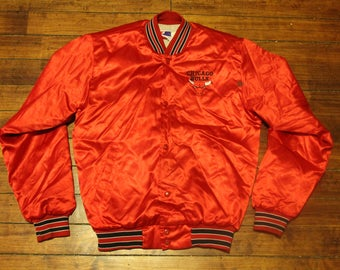 Chicago Bulls satin swingster jacket vintage NBA basketball coat small