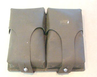 Vintage German Military G3 Dual Ammo Magazine Pouch For 308/7.62 HK, Rubber-Vinyl