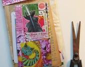 Surprise collage kit, paper goodies, mini art kit, craft supplies, scrapbooking, journaling