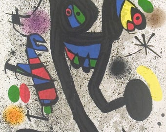 Joan Miro-Young woman with butterflies-1971 Lithograph